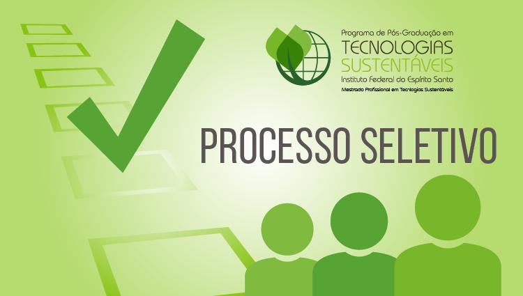 Edital 03/2020 - Pós-Graduação em Tecnologias Sustentáveis PPGTECS